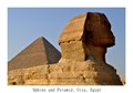 The Sphinx and one of the Pyramids at Giza