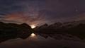 Moonrise over Lac Lerié, French Alps