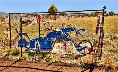 Motorcycle in graveyard resize