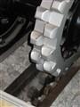 Rack railway drive wheel