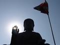 Buddha on Lantau Island Honk Kong.