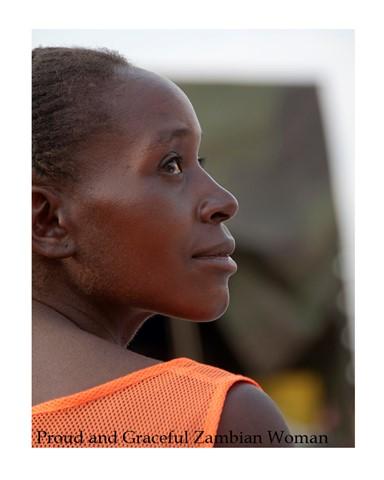 Proud and Graceful Zambian Woman