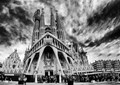 "The famous ""unfinished"" cathedral of Gaudi in Barcelona Spain."