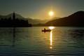 Early Sunrise on Lake Bled