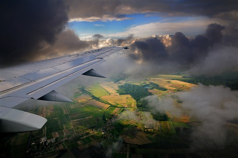 Approaching Prague
