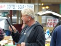 A vendor @ Lambertville flea market