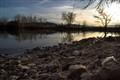 Duck Pond at Dusk