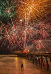 Fireworks in Pismo Beach, Fourth of July 2019