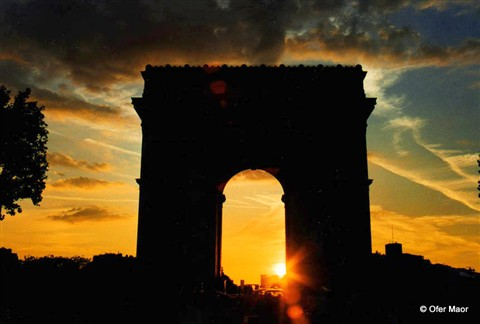 Arc De Triomphe at Sunset