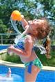 Splashing by the pool