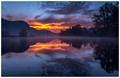 Dawn on Adda river, N Italy