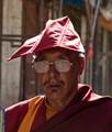 Tebetan monk in the streets of Lhasa