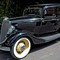 1934 Ford V8 Model 40: Introduced in 1932 the V8 engines were the first mass produced of their kind. The car weighed under 1 ton and was therefore very fast.