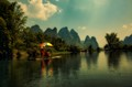Rafting on Li River