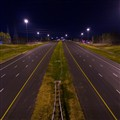 Triangle Expressway at night
