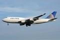 United Airlines Boeing 747-422 N197Ua on final for Frankfurt