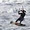 Sheila kite surfing