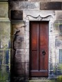 A narrow little side door in St Giles Cathedral, Edinburgh, Scotland.