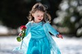 Child twirling in the snow after a storm in West Kentucky, February of 2021.
