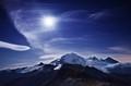 Mt Baker, full moon, Skyline Divide camp