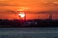 New York Sunset From Staten Island Ferry