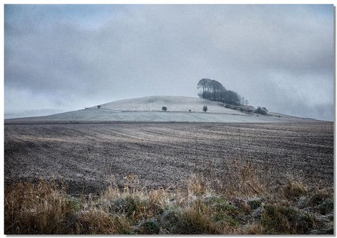 Frosty Picked Hill & frosty fields