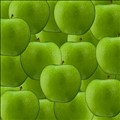 Granny Smith Apples Flattenned