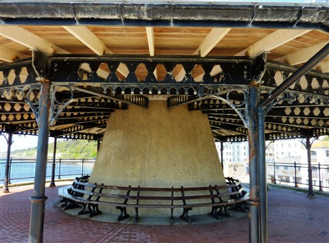 Covered Seating on Ventnor Esplanade IoW