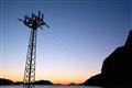 Evening pylon
