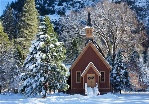 Yosemite Chapel in Winter_v2