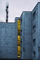 Blue concrete