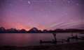 Star trails and aurora over the Tetons