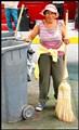 peruvian street cleaner