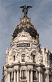 One very popular building in the downtown of Madrid, Spain
