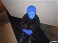 Matthew waiting for Blue man Group