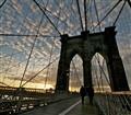 dawn at the brooklyn bridge