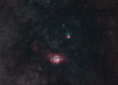 Laguna and Trifid nebulae