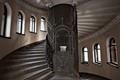 the Lift in the merchant's house Eliseev. Saint-Petersburg, Russia. The main staircase and elevator are in the cylindrical space