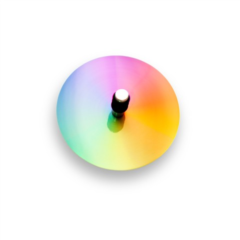 Colourful Spinning Disk Top