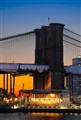 Sunset on the Brooklyn Bridge