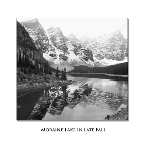 Moraine Lake BW