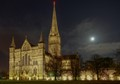 Salisbury Cathedral by Moonlight