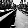 Abandoned rail road bridge