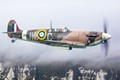 Spitfire over the White Cliffs of Dover