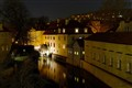 The water mill on kampa island at night