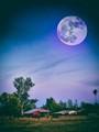 Super Moon over California Ranch