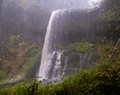 A Fall Hailfall at a Waterfall