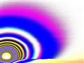 Puesta del sol psicodélica