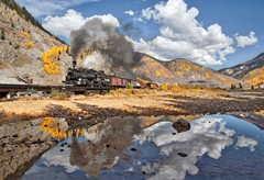High Altitude Rocky Mountain Railroad