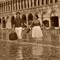 Honeymoon in Hight Water Saint Mark Square Venice